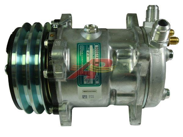 509-410 - Compressor Original - Sanden SD5S14 / 5H14, 12v