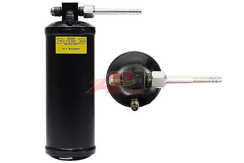 803-305 - Receiver Drier - 76mm x 241mm - #6 Male Flare x #6 Male Flare