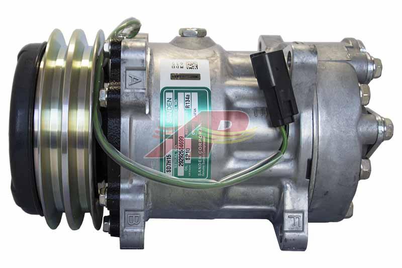 509-6155 - Compressor Original - Sanden SD7H15, 24v, *** Coil With Double Wire ***