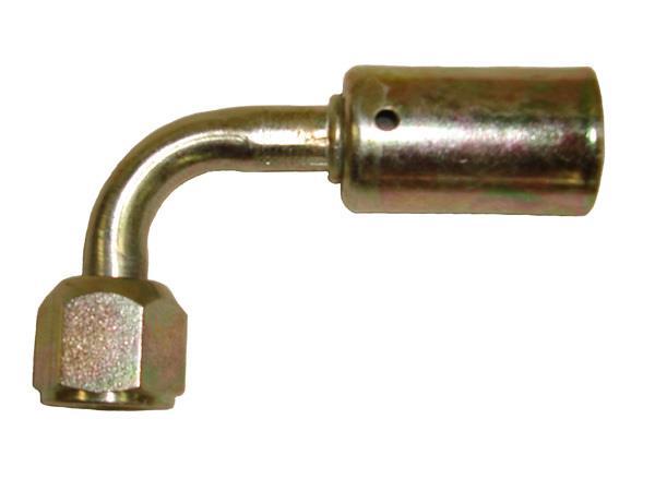 461-4633 - 90 Degree Metric 9/16 - 18 Thread, Female O-Ring with 7.5mm Pilot, For #6 Standard Diameter Hose
