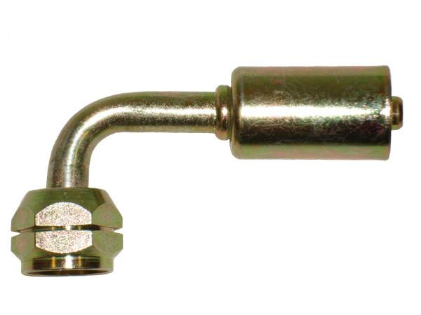 461-4533-4 - 90° Metric M16 X 1.5 Female O-Ring with 7.5mm Pilot, For #6 Standard Diameter Hose