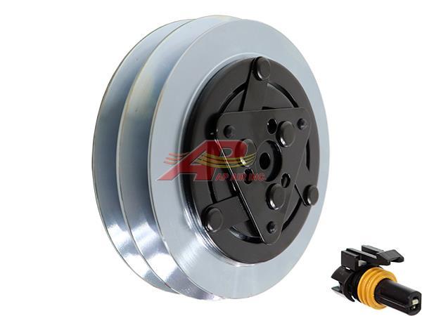 600-9712 - Compressor Clutch - Sanden SD7H15, 2 Grooves, Stepped Rotor, 12 Volt